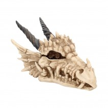 Fantasy Gothic Dragon Skull Trinket Box