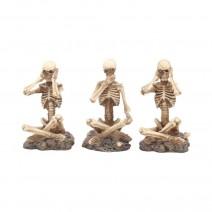 See No, Hear No, Speak No Three Wise Skeletons Figurines
