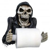 Skeleton Grim Reapers Revenge Toilet Roll Paper Holder