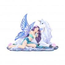 Fantasy Belle and Unicorn Companion Figurine
