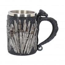 Medieval Sword Dragon Tankard Gothic Fantasy Mug