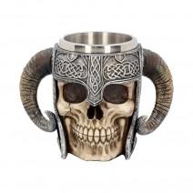 Viking Skull Helmet Tankard Historical Mug
