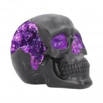 Geode Skull Black Purple Gothic Glitter Skull Figurine
