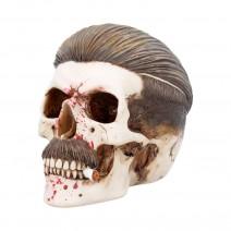 Blood Spattered Criminal Henchman Skull Smoking Figurine
