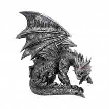 Obsidian Dragon Figurine
