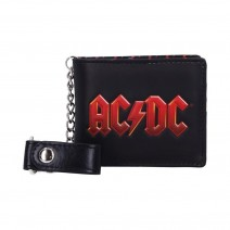 AC/DC Logo Leather Lightning Chained Wallet Purse