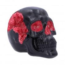 Geode Skull Black Red Gothic Glitter Skull Figurine