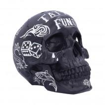 Black White Traditional, Tribal Tattoo Fund Skull