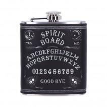 Black and White Spirit Board Drinking Hip Flask