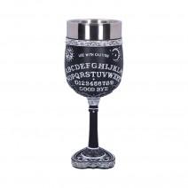 Black and White Spirit Board Goblet Glass