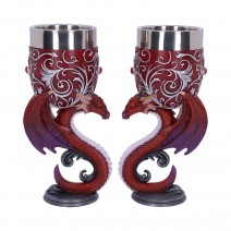 Dragons Devotion Twin Dragon Heart Set of Two Goblets