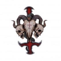 James Ryman Devils Cross Ram's Skull Petrine Cross Wall Plaque