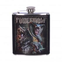 Powerwolf Kiss of the Cobra King Embossed Hip Flask