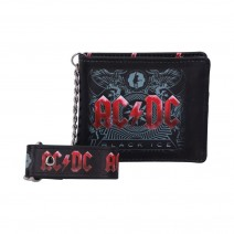 AC/DC Black Ice Album Embossed Wallet and Chain