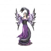 Guardians Embrace Large Dark Fairy Dragon Ornament