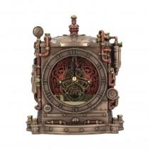 Bronze Horologist Steampunk Mantel Clock