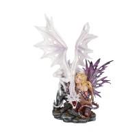 Aarya Dragon Guardian Dragon & Fairy Figurine 59cm