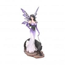 Panthea Purple Fairy and Panther Companion Figurine
