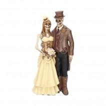 I Do Gothic Steampunk Bride Groom Figurine Wedding Valentine Ornament