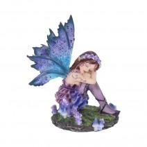 Akina Figurine Purple Blue Floral Fairy Ornament