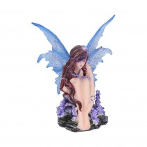 Violet Fairy with her Butterfly Azure 14cm