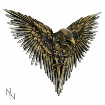 Blade Raven Plaque Steampunk Sword Crow Wall Hanging