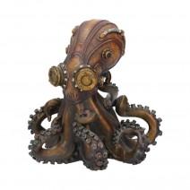 Bronze Octo-Steam Steampunk Octopus Squid Figurine