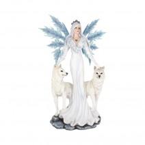 Aura Large Figurine Winter Fairy Wolf Ornament
