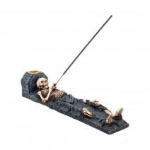 Ashes to Ashes Crypt Skeleton Incense Stick Holder