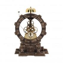 Steampunk Time Machine Open Mantel Clock