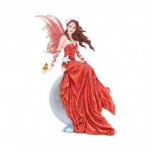 Nene Thomas Crimsonlily Red Moon Fairy and Butterfly Companion Figurine