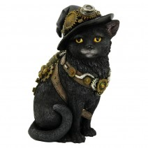 Clockwork Kitty Figurine Steampunk Cat Ornament