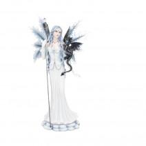 Ice Fairy Figurine With Dragon Companion Adica 57cm