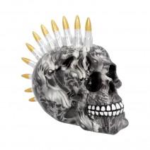 Soul Bullet Mohawk Skull Ornament 18.5cm