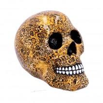 Wild Leopard Print Skull Ornament