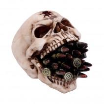 Bite the Bullet Skull Ornament