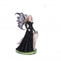 Loveta Large Wolf and Fairy Ornament