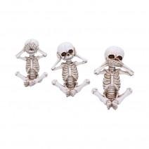 See No, Hear No, Speak No Evil Skellywag Skeleton Figurines