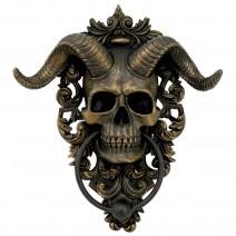 Diabolus Horned Skull Door Knocker