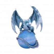 Mercury Guardian Turquoise Planet Dragon Figurine