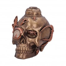Steampunk Pipe Up Modified Skull Ornament