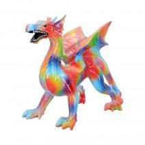 Multi-coloured Rainbow Dragon Ornament Figurine