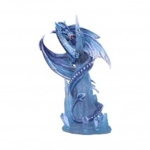 Crystal Custodian Blue Ice Dragon Figurine