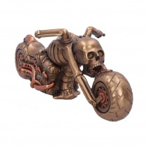 Corpse Cruiser Steampunk Skeleton Motorcycle Figurine 31cm