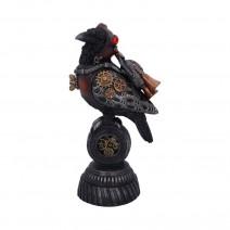 Steampunk Rivet Raven Mechanical Bird Figurine