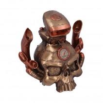 Petrol Head 18cm Motor Engine Steampunk Skull Figurine