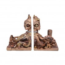 Bronze Steampunk Octonium Bookends Mechanical Octopus Shelf Ends