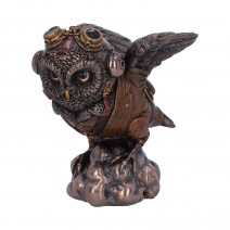 Bronze Learning to Fly Steampunk Owl Figurine
