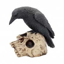 Raven Remains Figurine Crow Skull Gothic Ornament