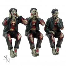 See No, Hear No Speak No Evil Zombies Figurine Ornaments
